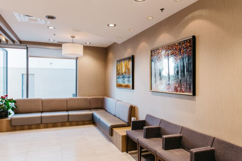 The peaceful PoloPark Dental waiting room