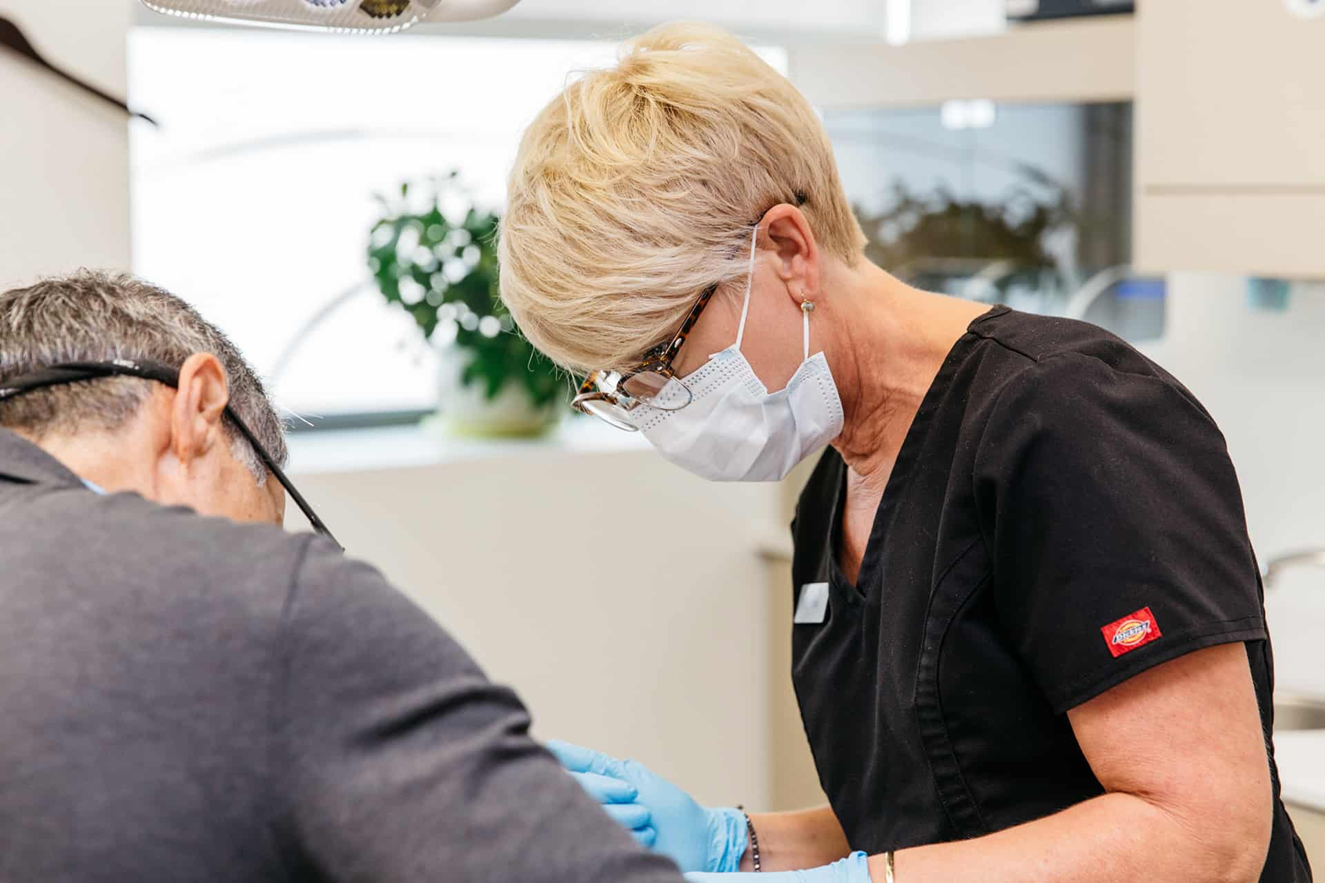 Experienced PoloPark Dental staff hard at work