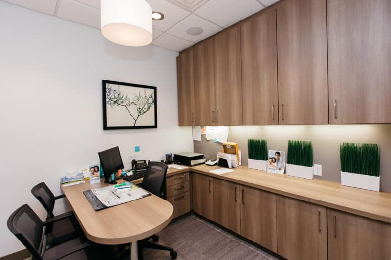 Quiet offices allow for private consultations