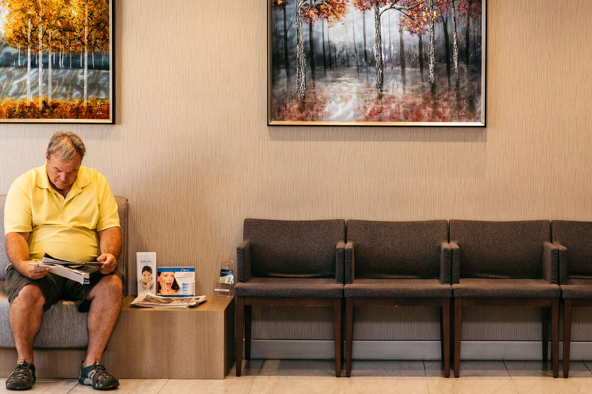 Older man waiting for his appointment